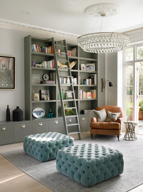 Wimbledon:  Living room by LEIVARS, Modern