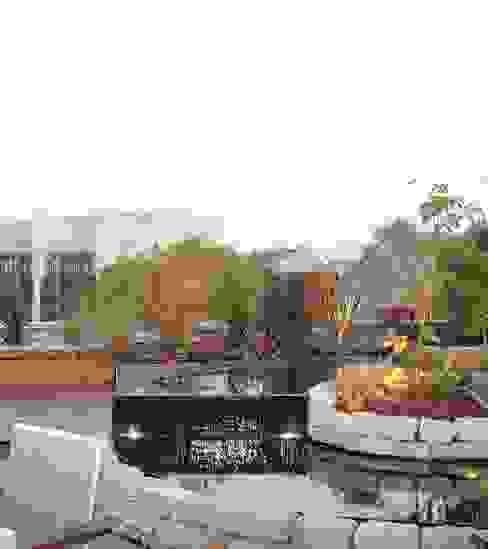 kleines Wasserbecken auf einem Dachgarten von dirlenbach - garten mit stil Ausgefallen