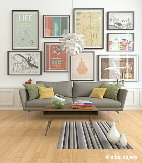 Living room by alba najera,