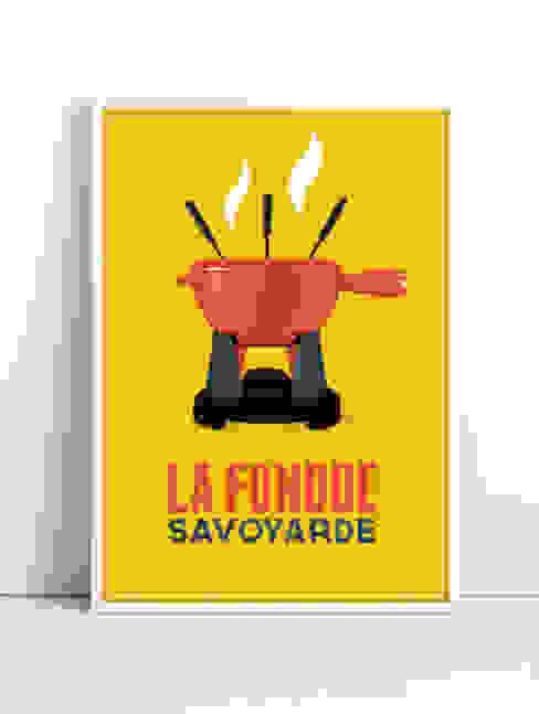 Affiche La fondue (jaune) par CosyNEVE Éclectique