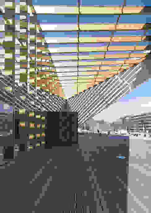 Acceso Escuelas de estilo moderno de JAAM sociedad de arquitectura Moderno