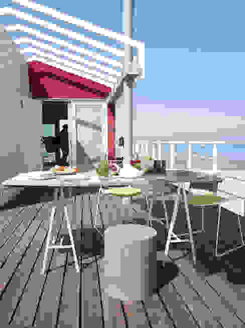 A room over the sea - Trabocco Balcone, Veranda & Terrazza in stile mediterraneo di Studio Zero85 Mediterraneo