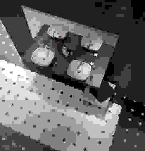 Octagon Mármol Negro, Blanco 20x20 cm Baños de estilo clásico de Equipe Ceramicas Clásico