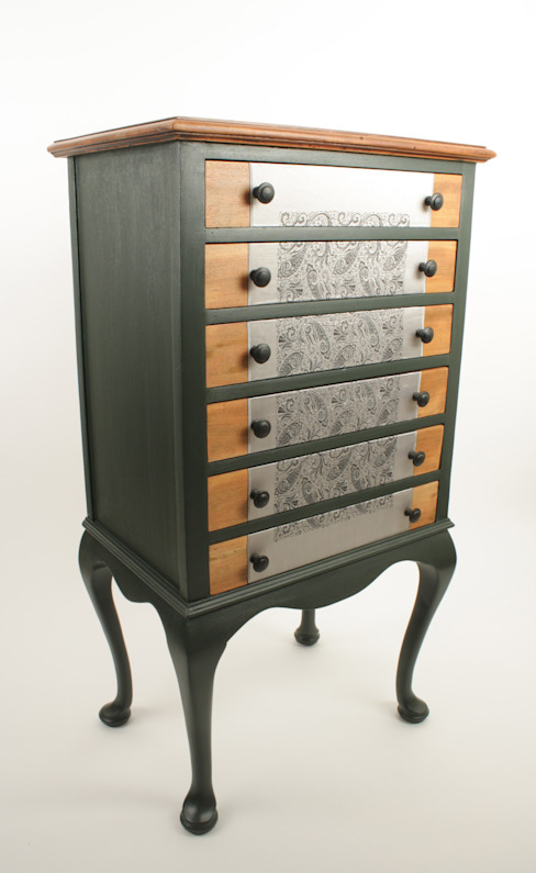 Upcycled Edwardian music cabinet: eclectic  by Narcissus Road Furniture Design, Eclectic