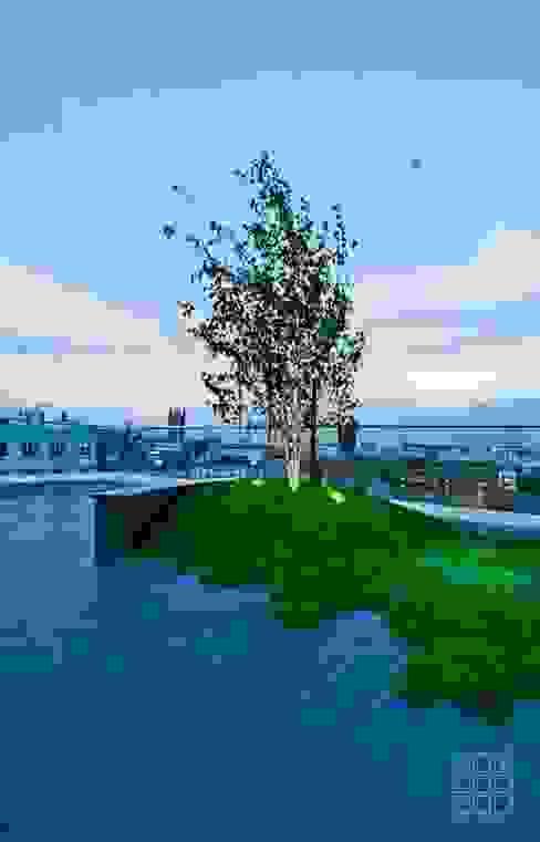 Victoria 1, London Balcon, Veranda & Terrasse modernes par Urban Roof Gardens Moderne