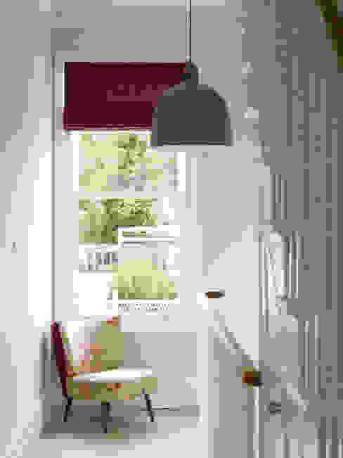 Wimbledon Pasillos, vestíbulos y escaleras de estilo moderno de LEIVARS Moderno