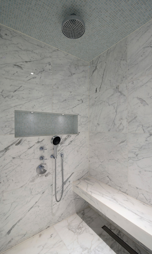 Italian Marble Shower Enclosure Modern bathroom by Amarestone Modern