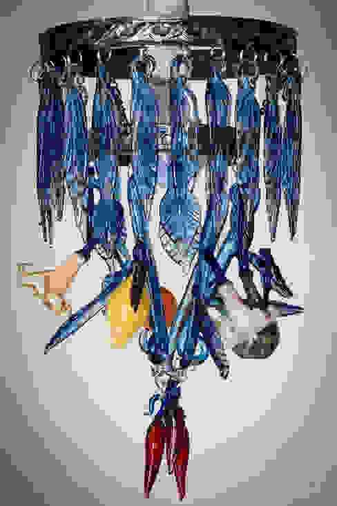 Turkish blue chandelier de A Flame with Desire Ecléctico