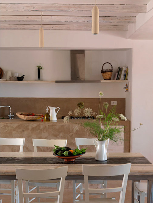 casa GM Cucina in stile mediterraneo di 0-co2 architettura sostenibile Mediterraneo