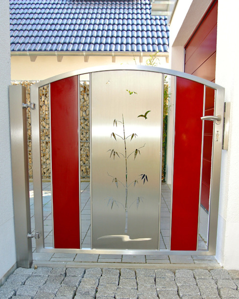Garden Gates Taman Modern Oleh Edelstahl Atelier Crouse - individuelle Gartentore Modern Metal