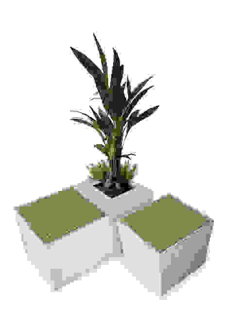 Grüne Sitzoase: modern  von BETONIU GmbH,Modern