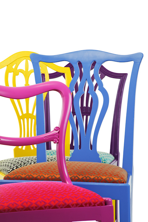eclectic  by Standrin, Eclectic Solid Wood Multicolored