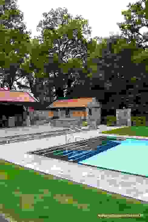 Pool garden Piscinas de estilo rústico de RON Stappenbelt, Interiordesign Rústico