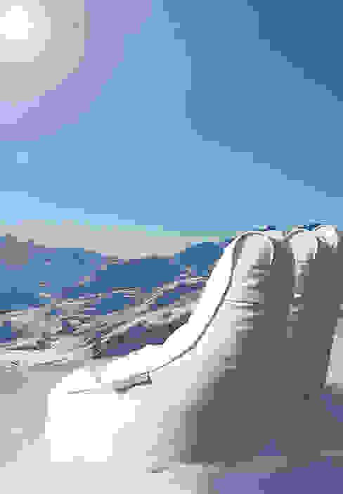 OUTBAG Slope deLuxe white: modern  von Global Bedding GmbH & Co.KG,Modern Kunststoff Braun