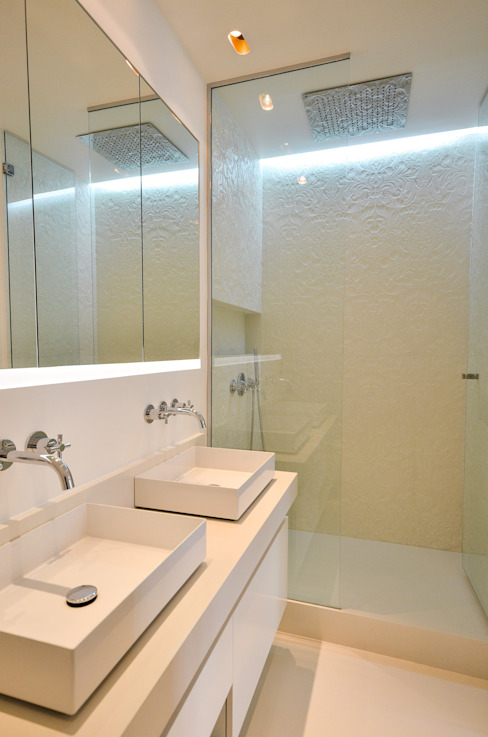 Douche en béton texturé Concrete LCDA Salle de bain moderne