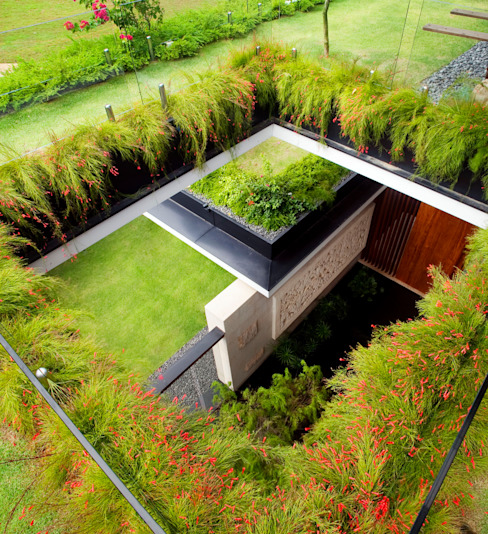 MEERA SKY GARDEN HOUSE:  Garden by Guz Architects, Modern