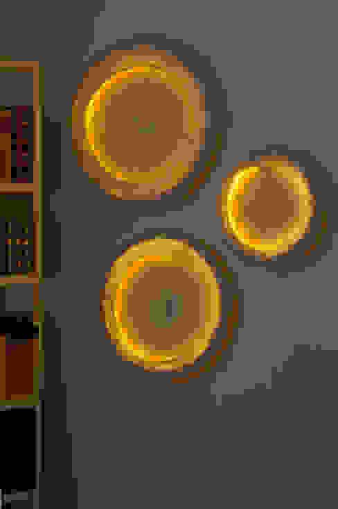 Orbis Wall Lamp in felt di Judith Byberg