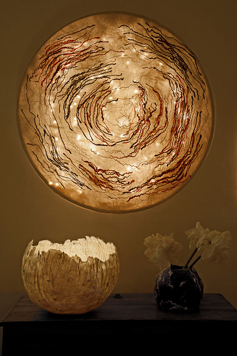 Spira Ceiling Lamp in nunofelt di Judith Byberg Scandinavo