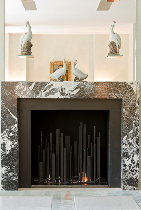 Metropolis Fire BD Designs Living roomFireplaces & accessories