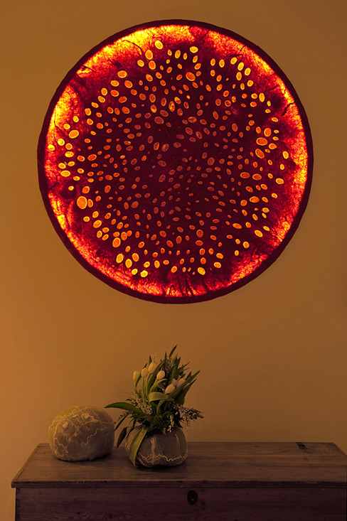 Istìe Wall Lamp in nunofelt di Judith Byberg Scandinavo