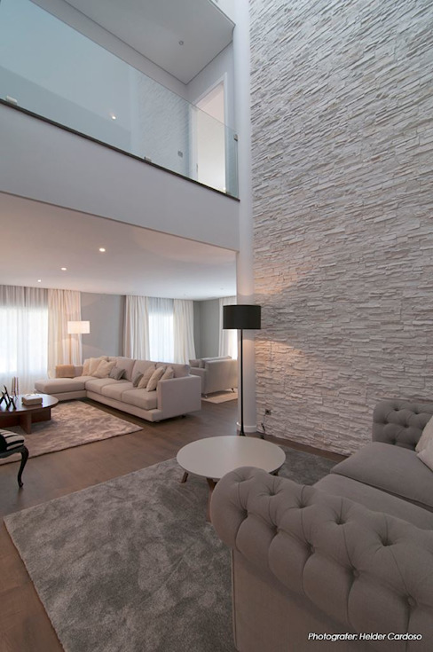غرفة المعيشة تنفيذ Stoc Casa Interiores, حداثي