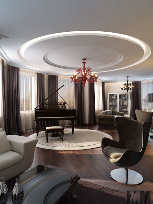 Living room by ММ-design, Classic