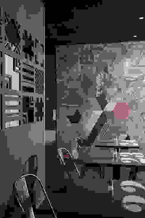salle du restaurant Gastronomie moderne par Soraya Deffar / Un Pretexte Moderne