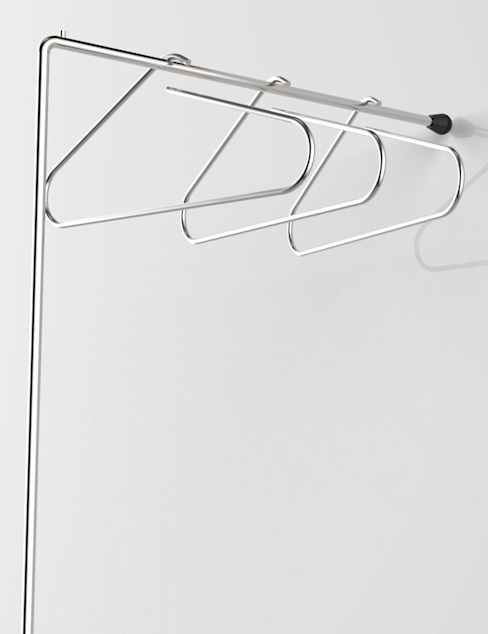 LESS IS MORE, coat hangers holders por Insilvis Divergent Thinking Minimalista
