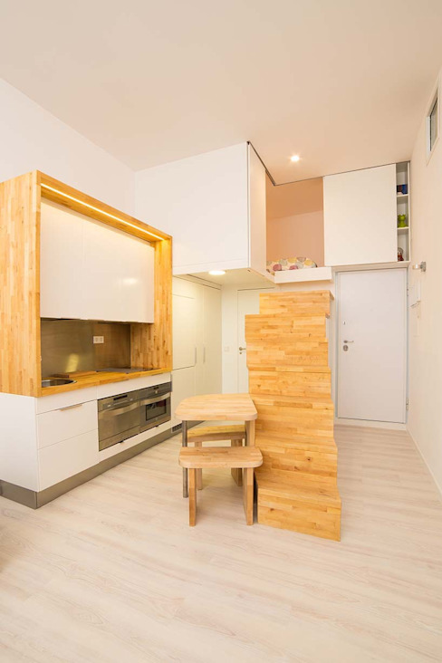 Loft ZURITA. Madrid Beriot, Bernardini arquitectos Cocinas de estilo minimalista