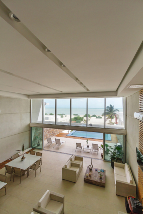 Casa JLM: Casas de estilo  por Enrique Cabrera Arquitecto, Minimalista
