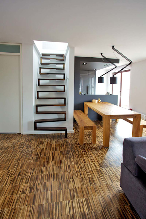 Modern Corridor, Hallway and Staircase by lifestyle-treppen.de Modern