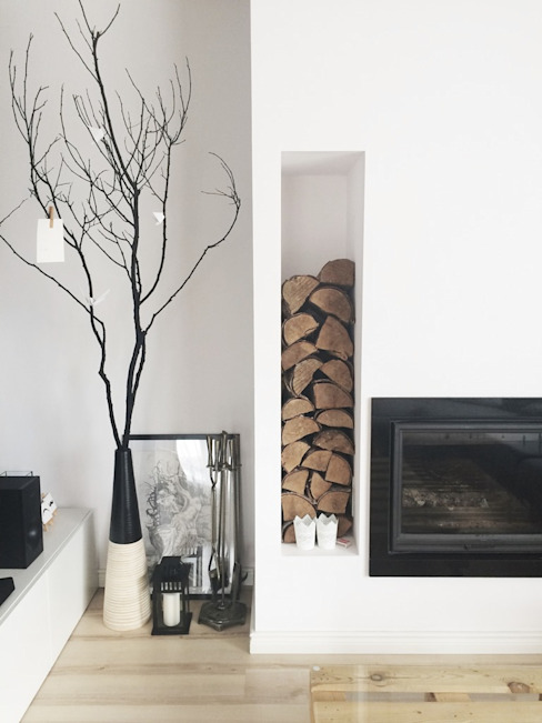 스칸디나비아 거실 by White Interior Design 북유럽