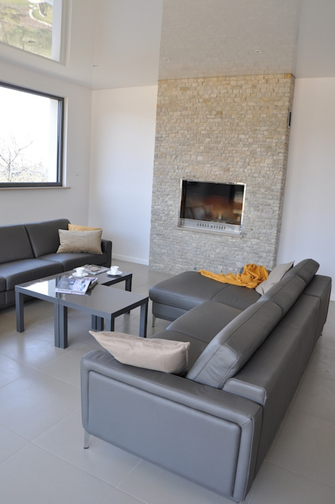 Moderne Wohnzimmer von Pracownia Projektowa Ola Fredowicz Modern