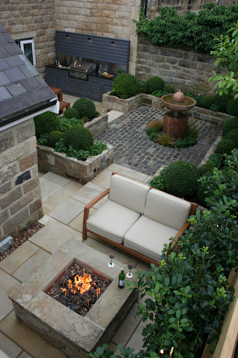 Urban Courtyard for Entertaining Modern Bahçe Bestall & Co Landscape Design Ltd Modern