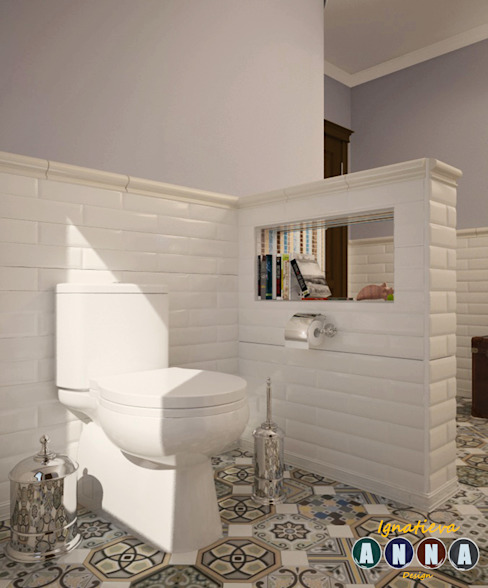 Mediterranean style bathrooms by Дизайн-студия Анны Игнатьевой Mediterranean