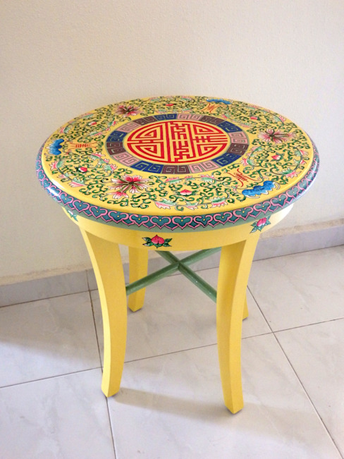 Chinoserie side table :   by Art From Junk Pte Ltd,