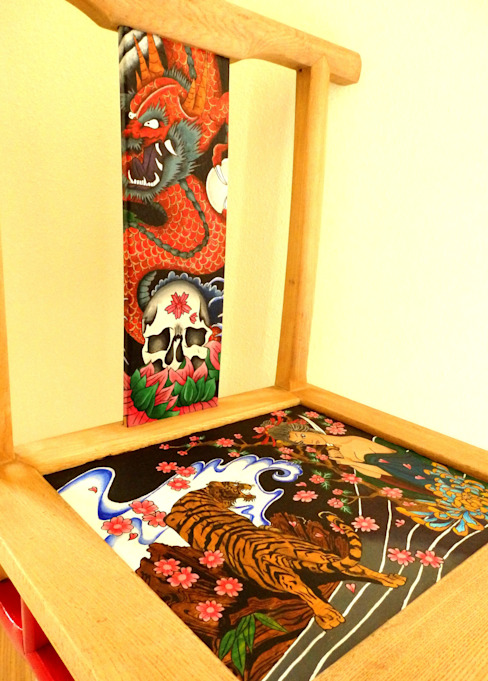 Yakuza chair:   by Art From Junk Pte Ltd,