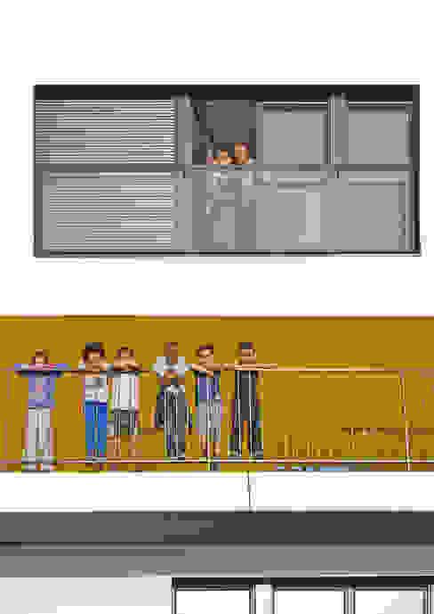 13_VUE FRONTALE FACADE - DETAIL sophie delhay architectes