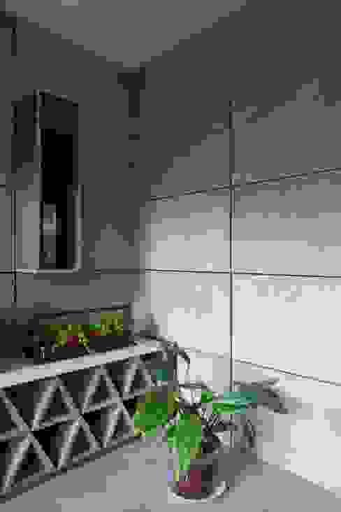 Departamento contemporáneo en Bosques de las Lomas Salones modernos de Taller David Dana Arquitectura Moderno