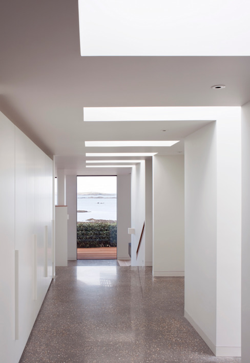 Le Portelet Modern Corridor, Hallway and Staircase by JAMIE FALLA ARCHITECTURE Modern
