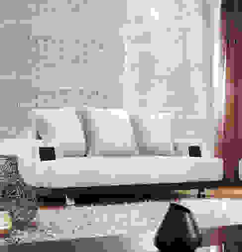 Ladrillo Nuevo Blanco Paredes y pisos de estilo moderno de homify Moderno Aglomerado