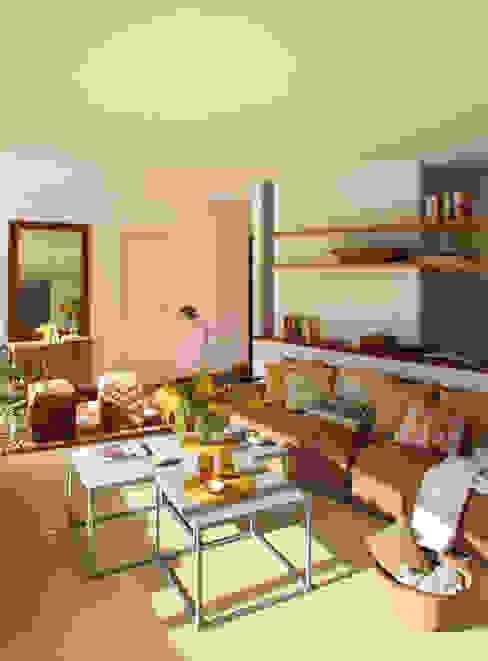 EG 4. Piso Barcelones BONBA studio Salones de estilo escandinavo