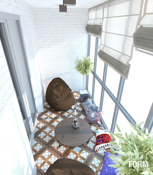 Minimalistischer Balkon, Veranda & Terrasse von PlatFORM Minimalistisch
