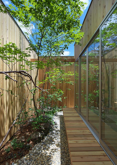 House of Nishimikuni 모던스타일 정원 by arbol 모던