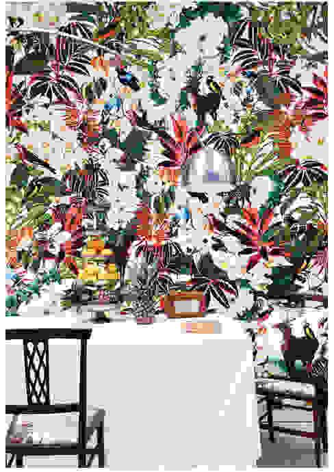 Tropical Moderne Wohnzimmer von KSWstudio Modern