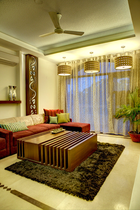 Living Room Minimalist houses by Studio An-V-Thot Architects Pvt. Ltd. Minimalist