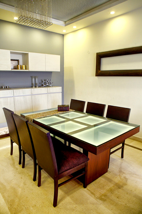 Dining Minimalist houses by Studio An-V-Thot Architects Pvt. Ltd. Minimalist