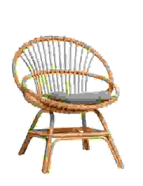 fauteuil coquille Brigitte avec coussin par KOK Éclectique