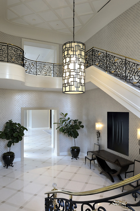 Residenza privata - Palm Beach, Florida - Hall d'entrata di Ti Effe Esse Interiors Moderno