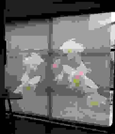 Panneaux japonais sur mesure Ancolies par Arielle D Collection Maison Éclectique